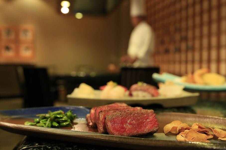 Experience Japanese Teppan-Yaki Course Menu~ Includes Wagyu Beef, Tempura and Sushi